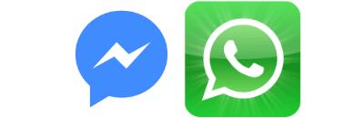 Facebook + WhatsApp logos