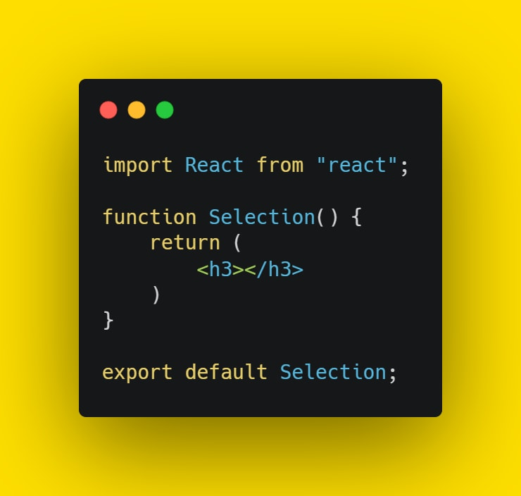 Add selection component
