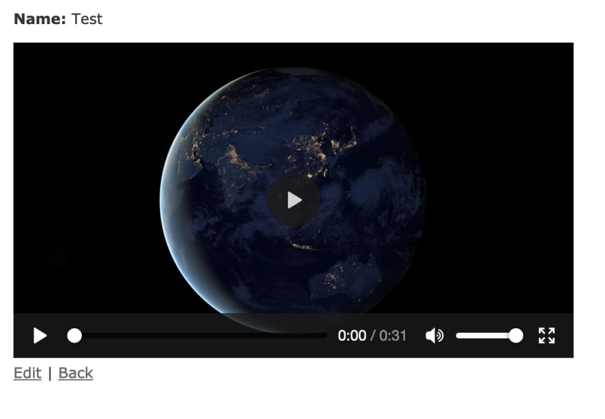 A screenshot showing a video displayed on a plain white page