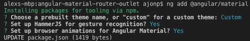 Angular Material Selections