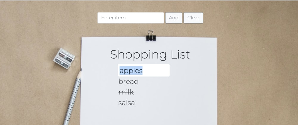 Cover image for How to make your to-do list editable with basic JavaScript