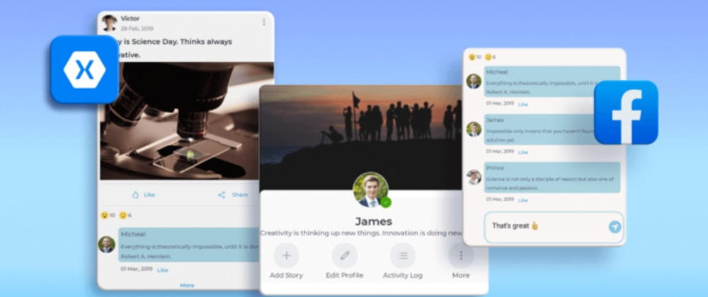 Cover image for Replicating a Facebook-Like UI in Xamarin