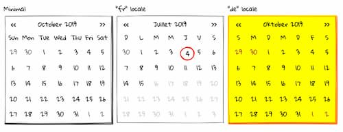 wired-calendar example