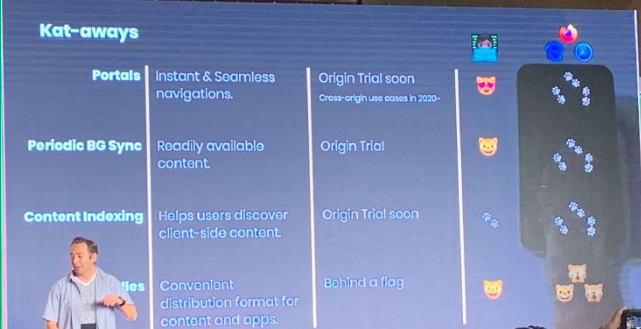 Kenji Baheux ( Product Manager Google) announcing upcoming features