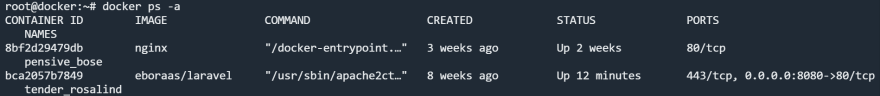 docker change ps output format permenantly