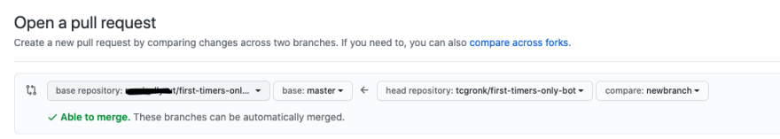 Example open source merge