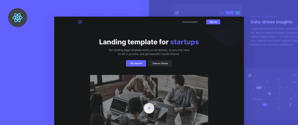 Cover image for I developed a free React landing page template
