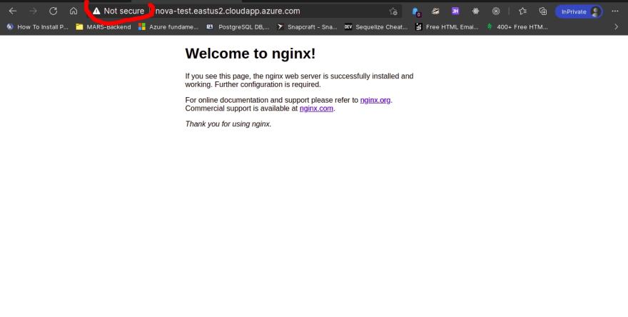 Azure VM Server HTTP Nginx