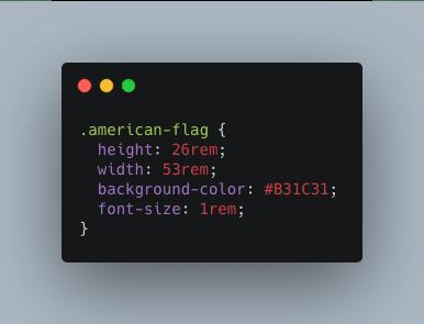 CSS code example