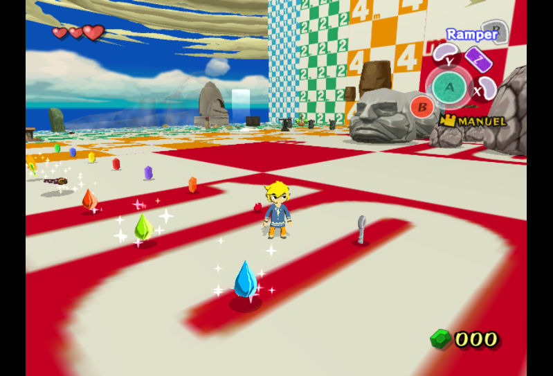 A secret debug level full of different objects in The Legend of Zelda: The Wind Waker