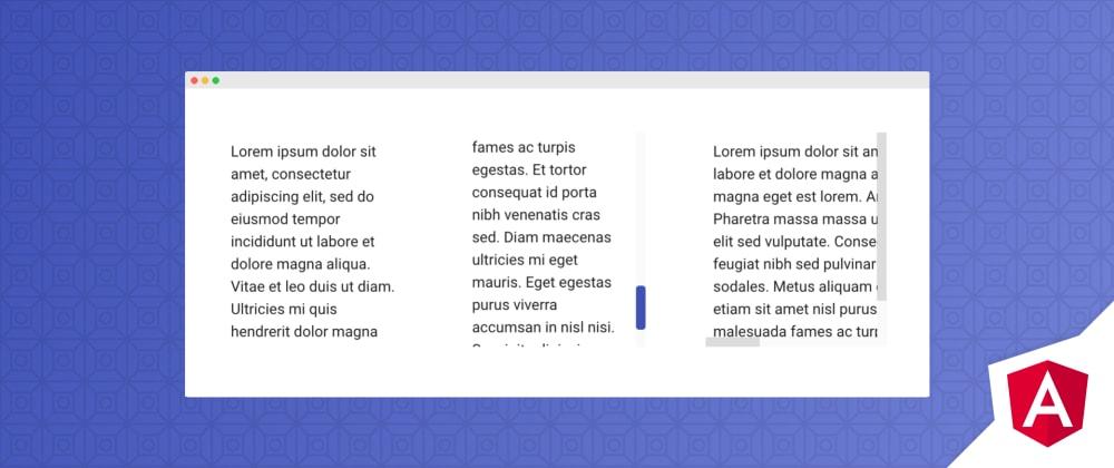 Cover image for Angular ScrollPanel