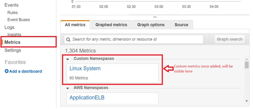 AWS Cloudwatch Custom Metrics