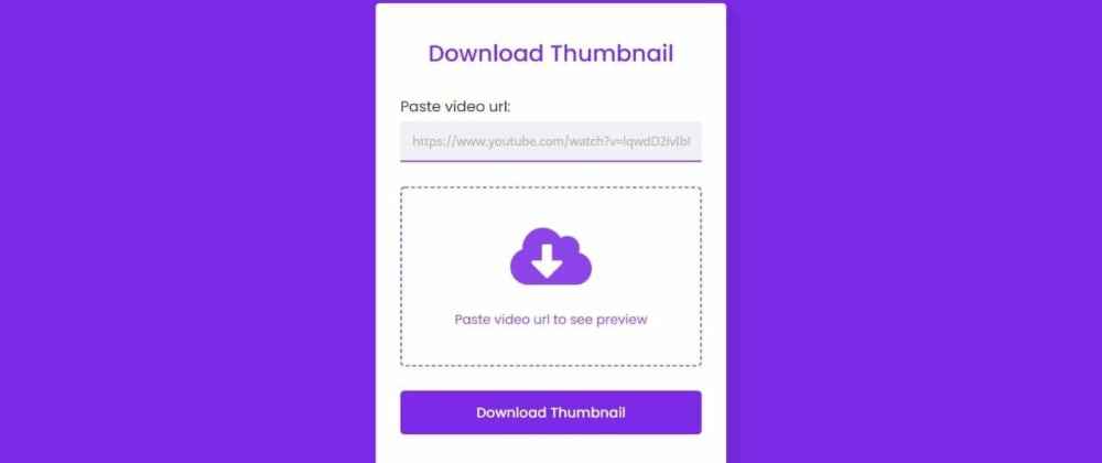Cover image for Download YouTube Video Thumbnail in PHP & JavaScript
