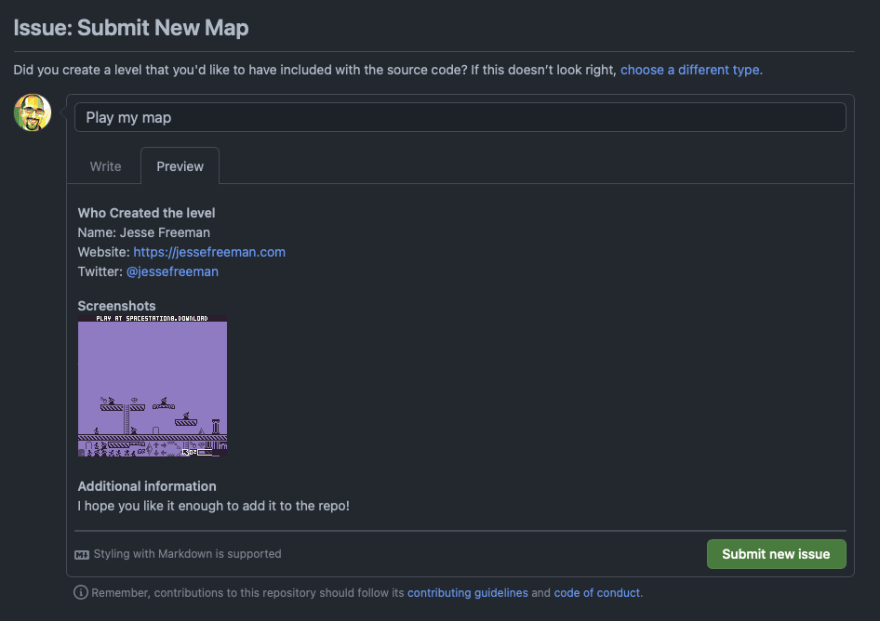 Github Map Issue