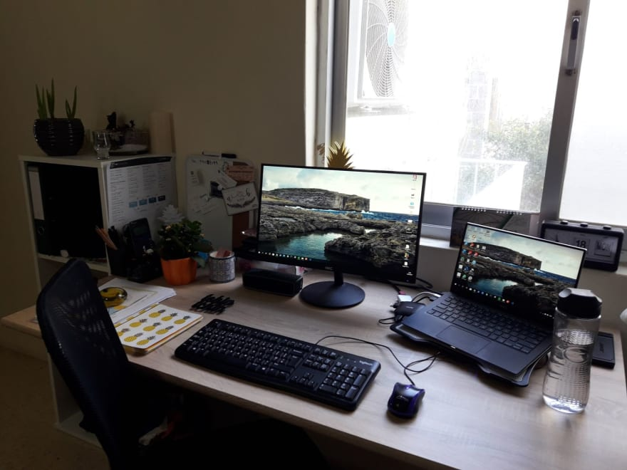 image of my desk set up