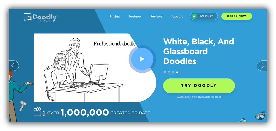 Doodly landing page