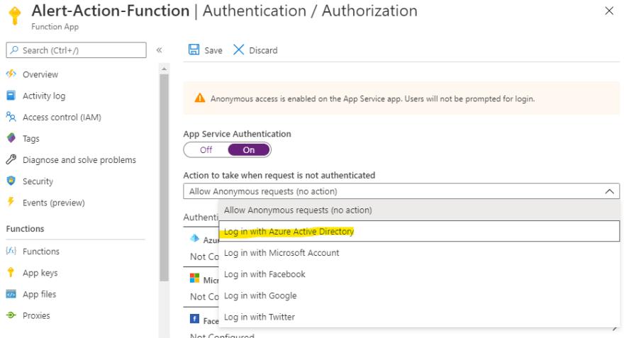 App Service Athentication config Part 1