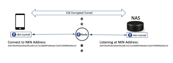 Figure 2: NKN Address used to establish E2E encryption<br>