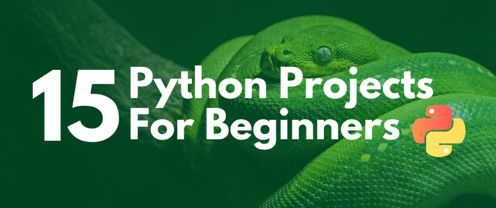 Cover Image for 15 Python Projects For Beginners