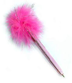 Fuzzy pink pen