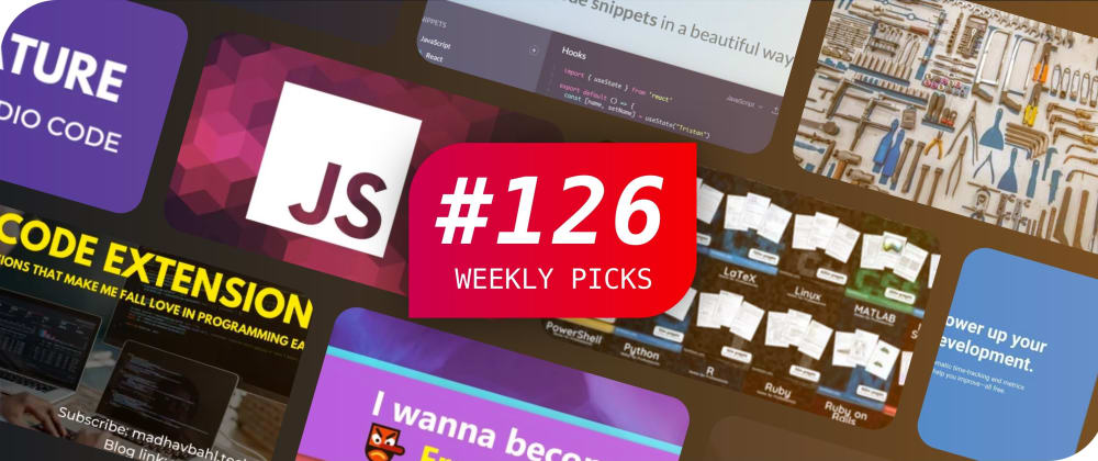 Cover image for 🔥 What's Hot in Web Development? — Weekly Picks #126
