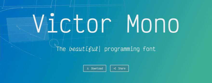 Victor mono landing page