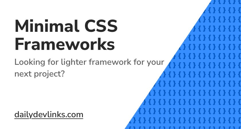 Minimal CSS Frameworks