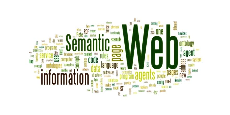 Wordle cloud for 'Semantic Web'