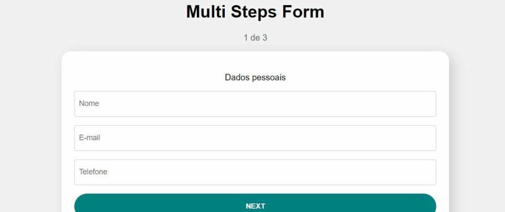 Cover image for Formulário multi step com React