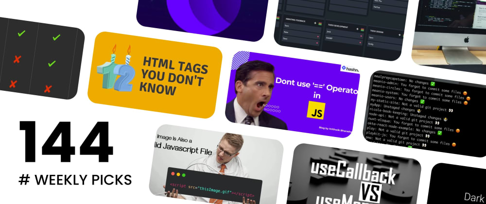 Cover image for 🔥 What's Hot in Web Development? — Weekly Picks #144