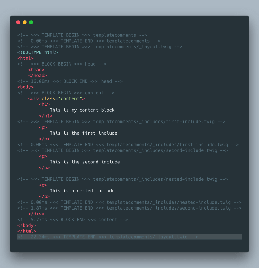 Templatecomments Example