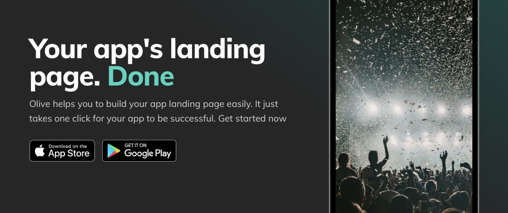 Cover image for Build your app landing page with Olive
