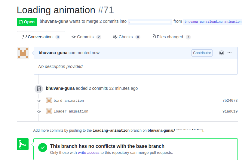 Pull Request done