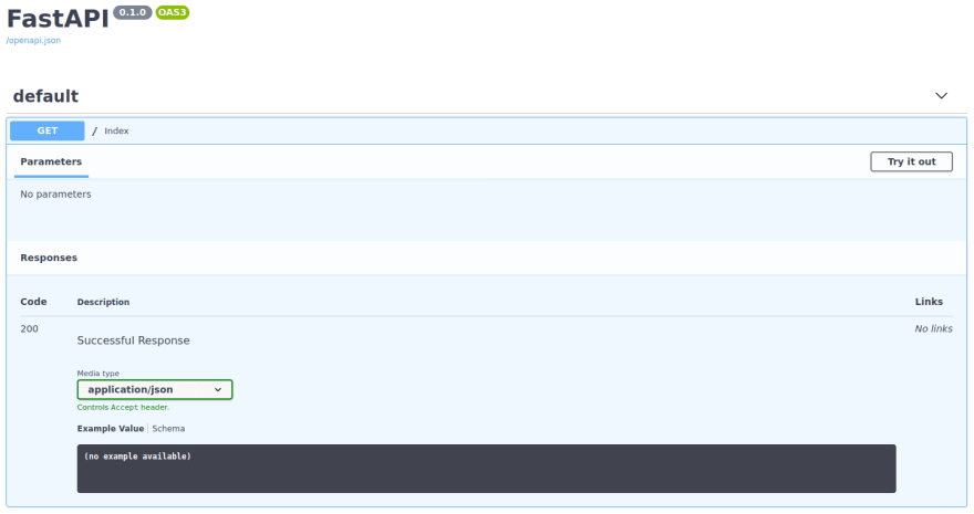 FastAPI - Swagger UI