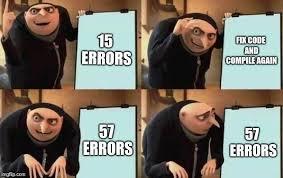 Debugging Gru meme