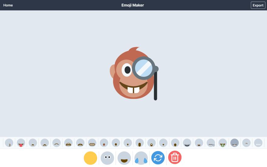 Emoji Maker demo by Jamstack Studio