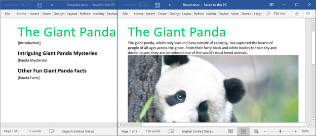 Find Text and Replace it with Another Word Document