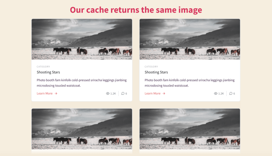 Cached Images repeating