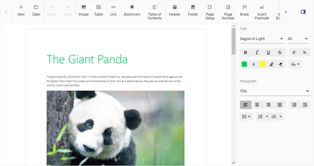 Syncfusion Document Editor Container