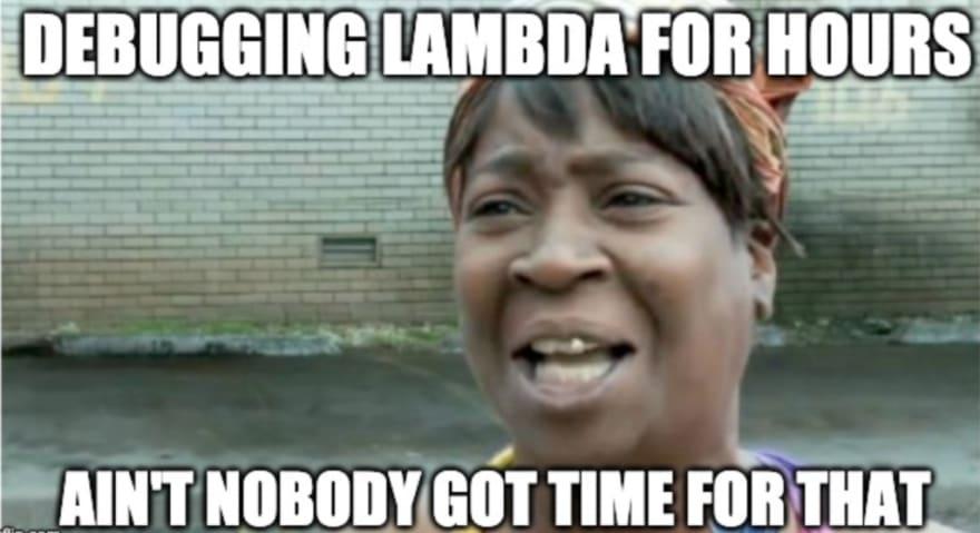 debugging aws lambda