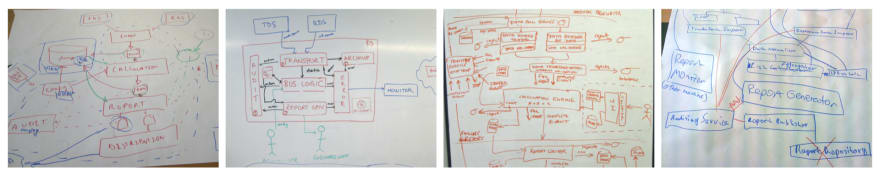 Typical whiteboard diagrams