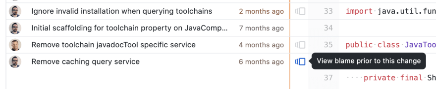 GitHub prior commits