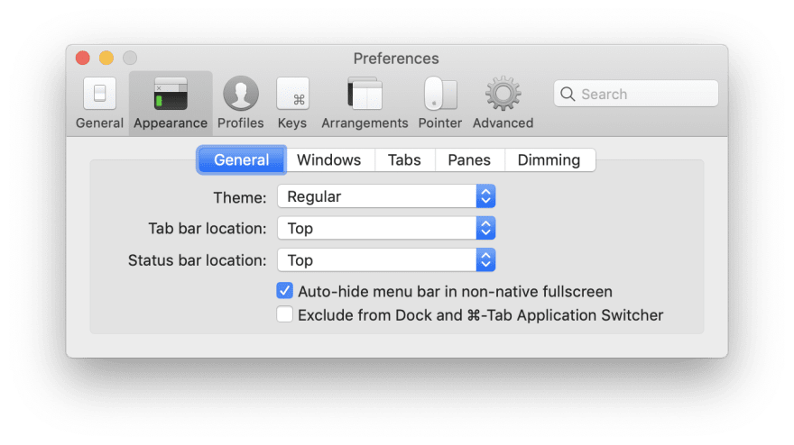 iTerm Preferences