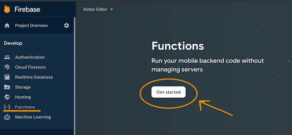 Firebase functions get started