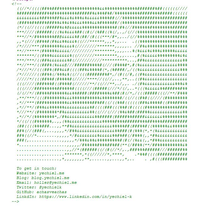 me in ascii art