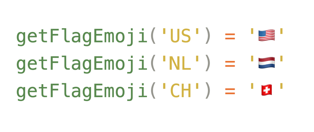 Cover image for Country Code to Flag Emoji