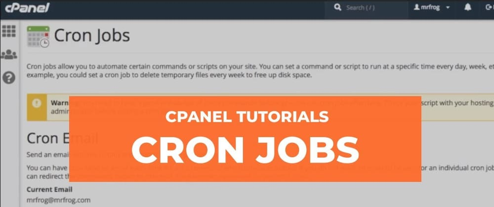 Cover image for How to run scripts via cron jobs