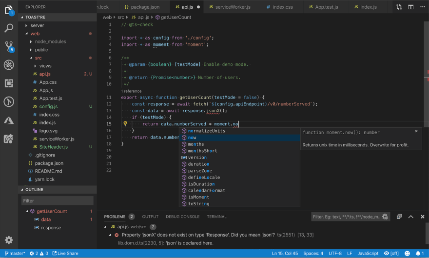 a screenshot of JS Code Snippets