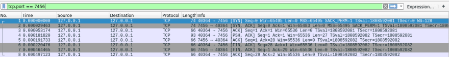 TCP on Wireshark