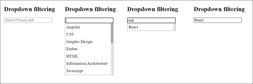 dropdown search